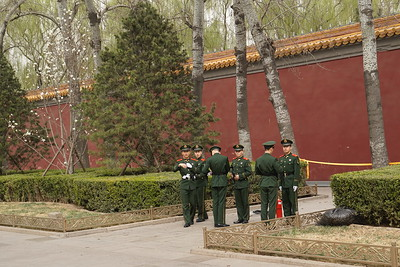 Soldiers near the Forbidden City tell me not to take pictures of them.  Too late :)