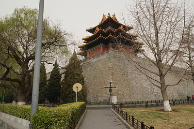 The exterior wall of the Forbidden City