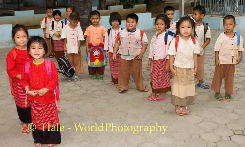 Elementary School Children in Chiang Mai, Thailand