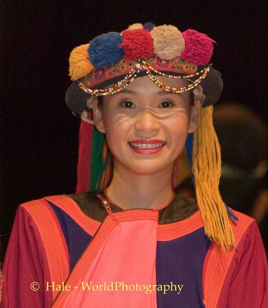 Khantoke Restaurant Show Dancer In Lisu Costume, Chiang Mai, Thailand
