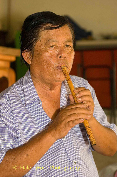 Music Teacher Playing Khlui, Chiang Mai, Thailand