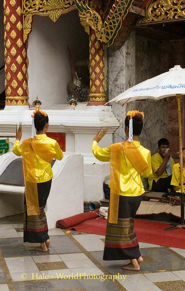 Young Women Performing the Fawn Leb (Fingernail Dance), Chiang Mai, Thailand