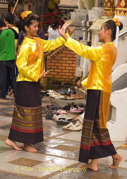 Young Woman Performing the Fawn Leb (Fingernail Dance), Chiang Mai, Thailand