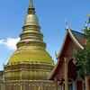 Chedi At Wat Phrathat Hariphunchai, Chiang Rai, Thailand