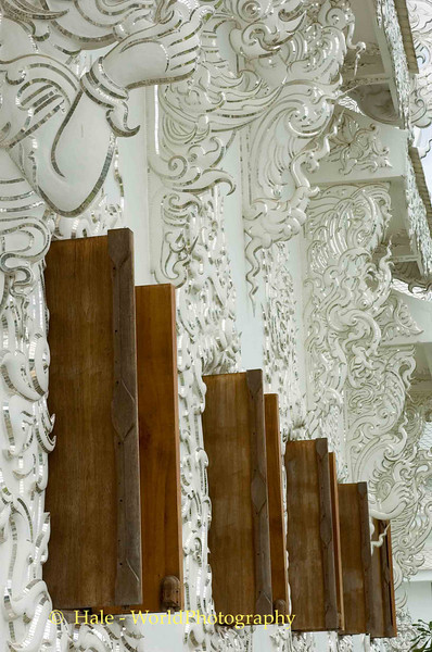 Wat Rong Khun Wall Details and Window Shutters, Pa-or-donchai, Thailand