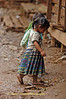 Little Barefooted Girl Headed Home From The Market, Huay Xai Laos