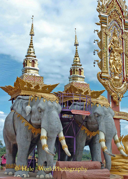 Sop Ruak Tourist Attraction on Mekong River, Golden Triangle, Thailand
