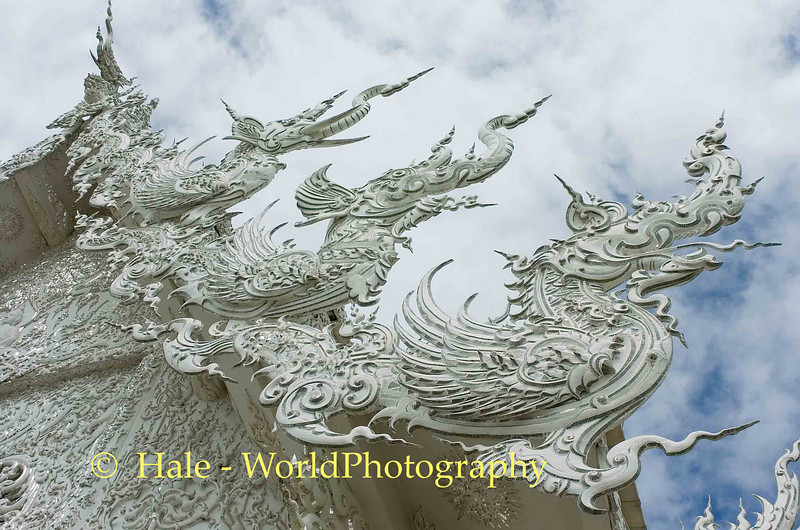 Wat Rong Khun Roof Detail, Pa-or-donchai, Golden Triangle Area, Thailand