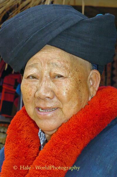 Yao Hill Tribe Grandmother Weaver, Golden Triangle Area, Chiang Rai, Thailand