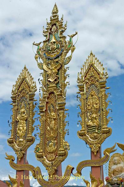 Sop Ruak Tourist Attraction on Mekong River, Golden Triangle, Thailand