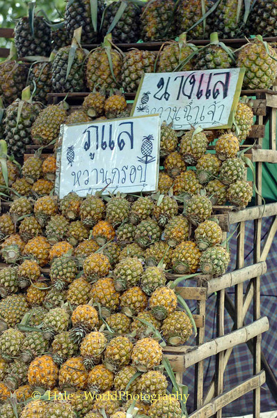 Roadside Pineapples For Sale, Golden Triangle Area, Chiang Rai Thailand