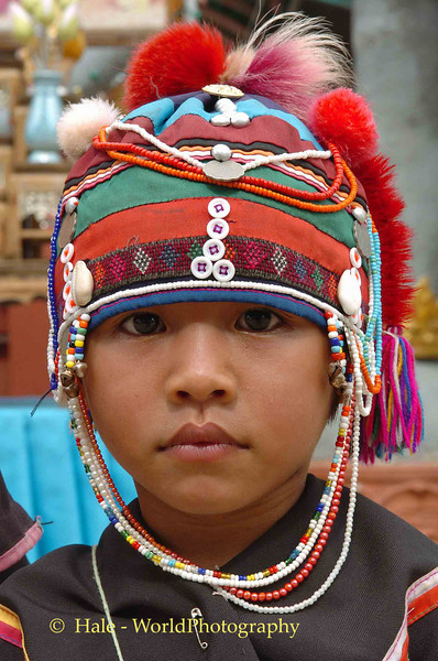 Young Ahka Girl of the Golden Triangle Area, Thailand