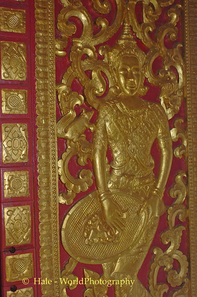 Huay Xai Laos Wat Carved Wood Door