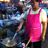 Our meal being cooked at the Night Market in Trat
