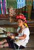 Padong girl, weaving (Chiang Rai Province)