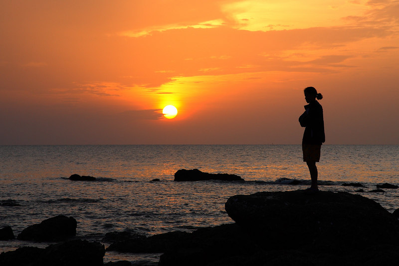 Sunrise, with spectator (Hua Hin)