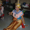 Lakhon Chatri Dancer Performing at Wat Sothon, Chachoengsao Thailand