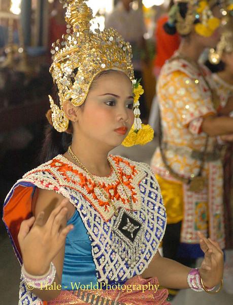 Lakhon Chatri Dancer Performing at Wat Sothon, Chachoengsao Thailand