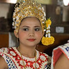 Lakhon Chatri Dancer at Wat Sothon, Chachoengsao Thailand