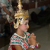 Lakhon Chatri Dancer Wearing A Chada Performing at Wat Sothon, Chachoengsao Thailand
