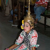 Lakhon Chatri Dancer Wearing A Chada Waiting to Perform at Wat Sothon, Chachoengsao Thailand