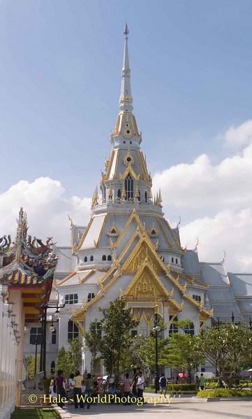 Ubosoth of Wat Sothon in Chachoengsao Thailand