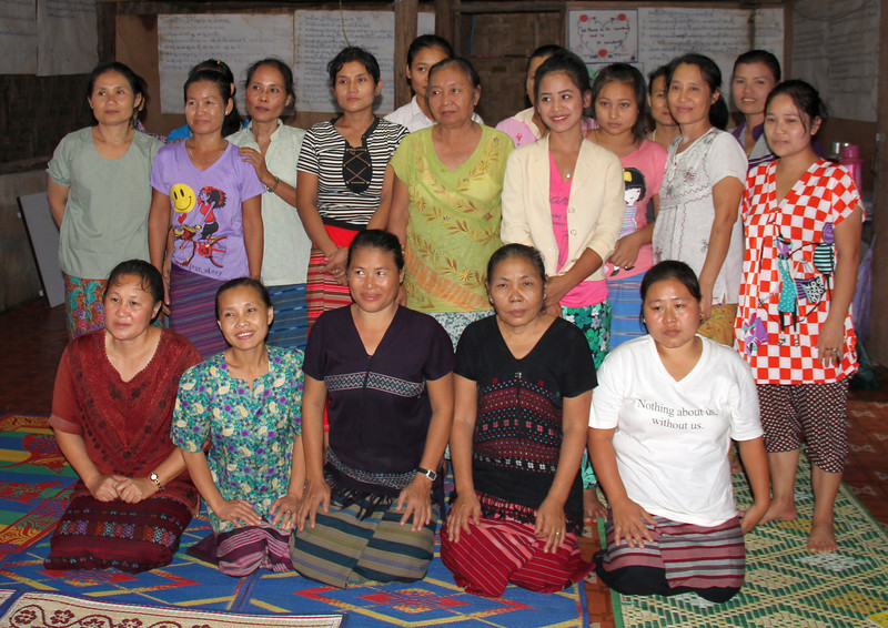Members of the Karen Women's Organization in the Mae La refugee camp. Melanie Gibbons