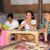 Ko Lo Wah, center, char of the Karen Women's Organization in the Mae La Camp. Melanie Gibbons