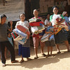 Refugees receive LWR quilts when the Thailand Burma Border Consortium distributes them in December. Photo from TBBC