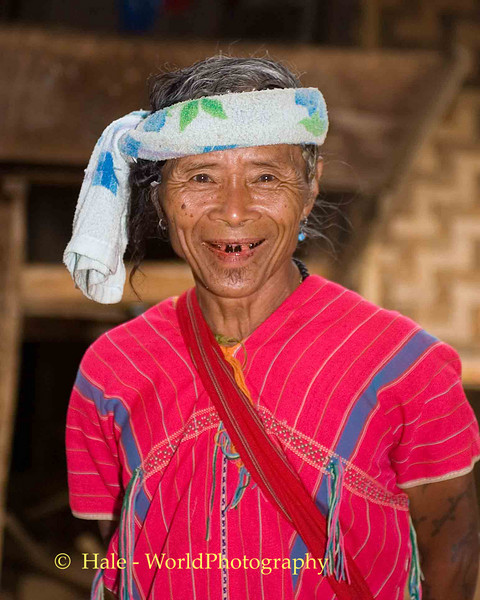Kayaw or Kayah Man Dressed In Traditional Clothing, Huaysuatao Refugee Camp, Maehongson, Thailand