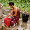 Padaung Woman Bathing, Huaysuatao Refugee Camp, Maehongson, Thailand