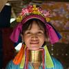 Padaung or Paduang Woman Refugee Camp Resident, Maehongson, Thailand