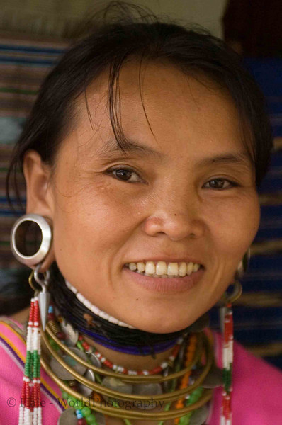 "Kayaw, ""Big Eared"" Woman, Huaysuatao Refugee Camp Thailand"
