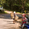 Black Lahu Woman Headed Home from Roadside Stand On the Road to Pai, Thailand