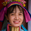 Paduang Woman or Padaung Woman, Maehongson Thailand