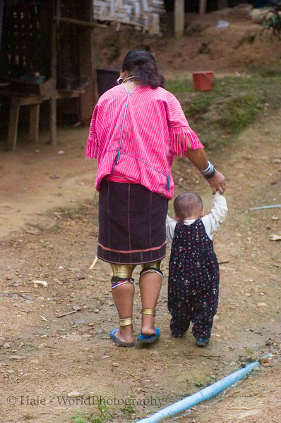 Walking With a Little Help From Mom, Huaysuatao Refugee Camp Thailand