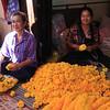 Marigolds everywhere in the Bangkok flower market