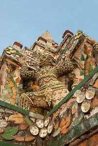 Wat Arun Ratchawararam Ratchawaramahawihan, Bangkok, Thailand.  Wat Arun Ratchawararam Ratchawaramahawihan or Wat Arun is a Buddhist temple in Bangkok Yai district of Bangkok, Thailand, on the Thonburi west bank of the Chao Phraya River.