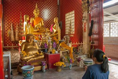 Buddhist temple (วัดสุนทรธรรมทาน), in Phaniang Rd, Khwaeng Wat Sommanat, Krung Thep Maha Nakhon, Bangkok, Thailand.