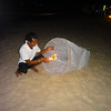 Lantern launching on Surin Beach.