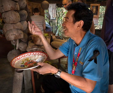 Our guide, Nu, who was endlessly enthusiastic about the foods we could try and experiences we could have.
