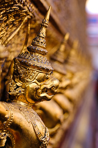 Part of the ornamentation around the buildings in the Royal Palace in Bangkok.