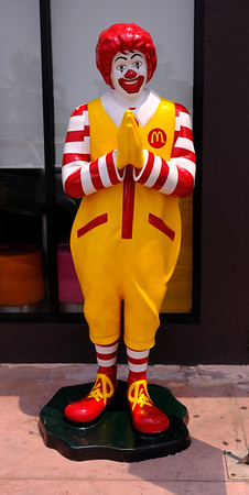 This is how Ronald McDonald greets you in Thailand.