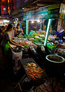 Chinatown in Bangkok -- critters on the barbie!
