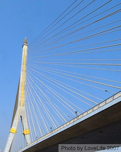 The Rama VIII Bridge ~ Chao Phraya River  Bangkok