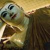 Resting Buddha in Rangoon, Burma.
