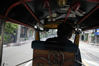 Our first Tuk Tuk ride in Bangkok.