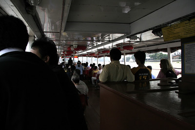 On the river express from Tha Chang to Tha Sathon to get back to our hotel.
