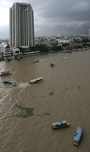 A view of The Peninsula Hotel on Chao Phraya River. This was directly across from our hotel the first night.