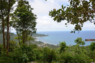 View over Ban Mae Hat 4x4 tour Koh Tao